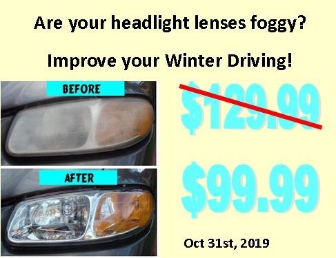 Are your headlights foggy?